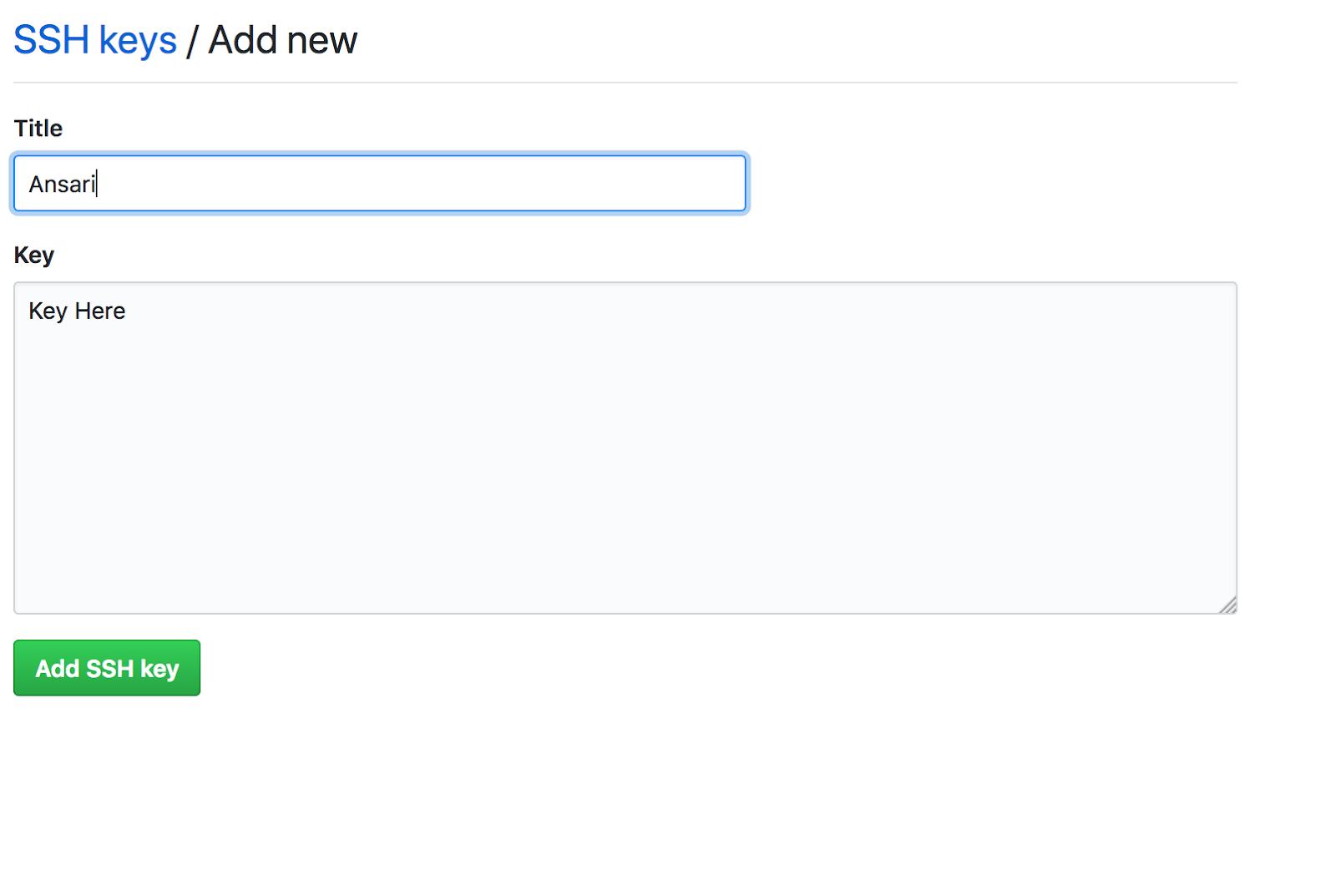 create new ssh key macos