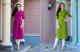 Vrinda 100 MILES KURTIS KURTA TOPS WHOLESALER LOWEST PRICE SURAT GUJARAT
