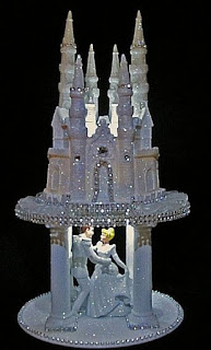 Castle Prince Cinderella Light Up Wedding Cake Topper