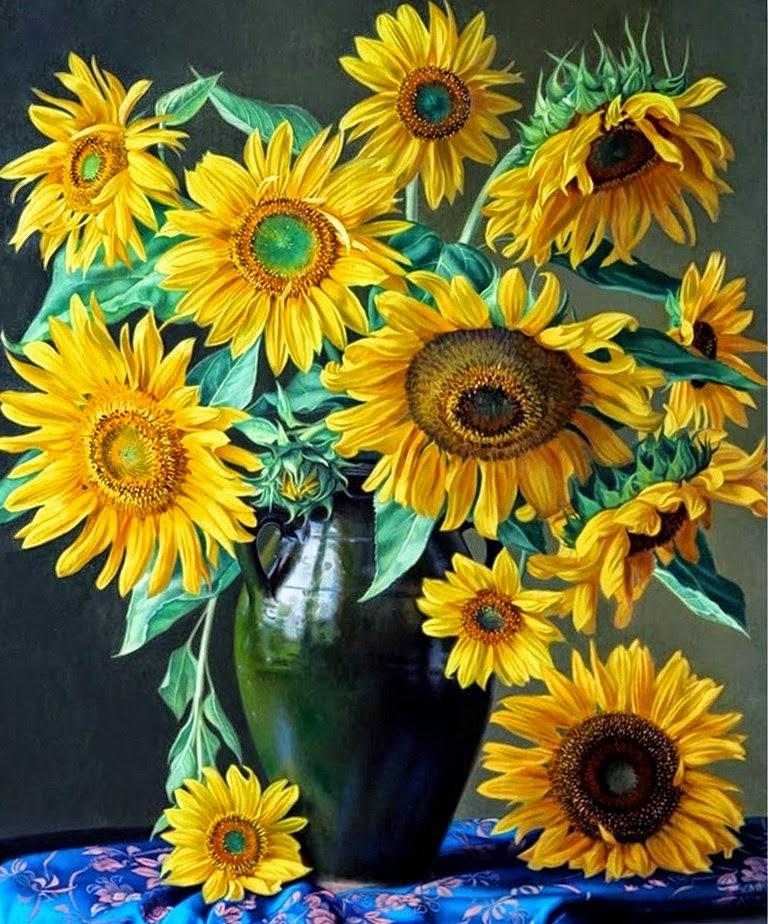 Cuadros modernos pinturas y dibujos pinturas de flores - Los cuadros mas bonitos ...