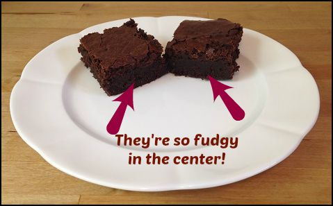 the fudgy center!