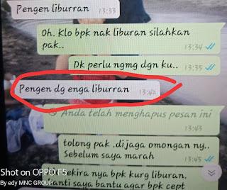 Fitri Tak Terima Setelah Baca WA dari Ketua DPRD Muba