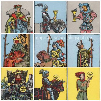 descricoes fisicas das cartas reais no tarot