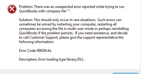 QuickBooks Enterprise Error 80029c4a
