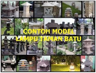 Model lampu taman dari batu