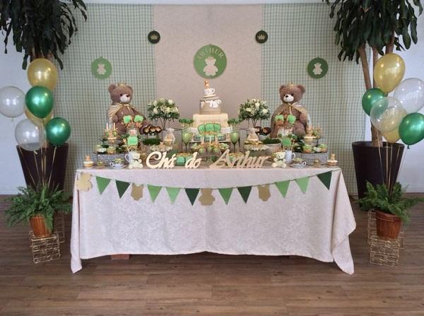 cha-de-bebe-tema-ursinho-decoracao-verde