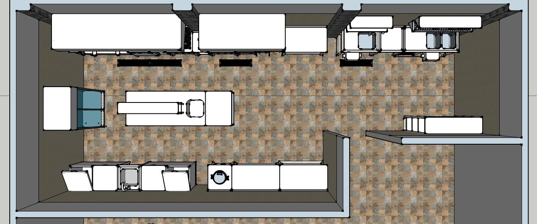 Desain Dapur Stailess Menggunakan Sketchup