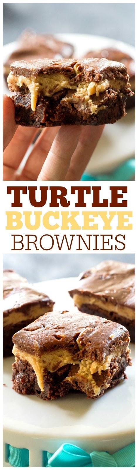 Turtle Buckeye Brownies