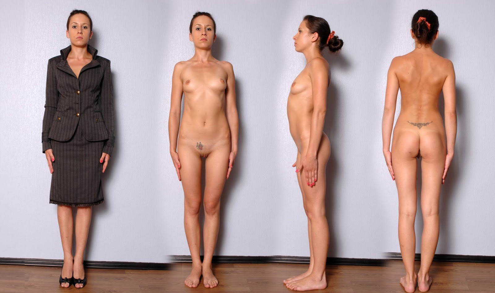 Model Audition - Posing Side By Side Cloth Unclothed -3120