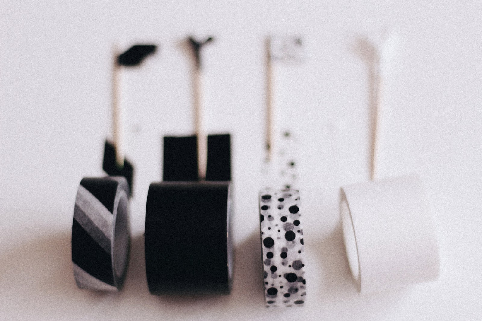 black and white washy tapes