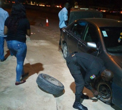 rrs changing tire lagos