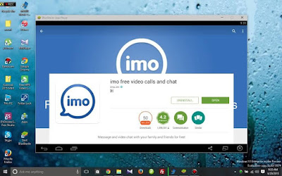 IMO for PC Windows using bluestacks