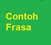 Contoh Contoh Kelompok Kata Frasa Frase Pelajaran Bahasa