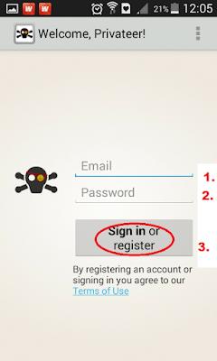 login ke akun caspirate menggunakan email anda
