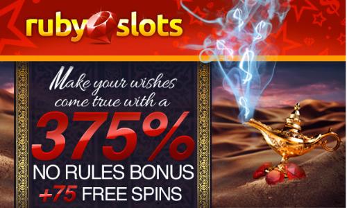 Ruby Slots Top No Rules Bonus