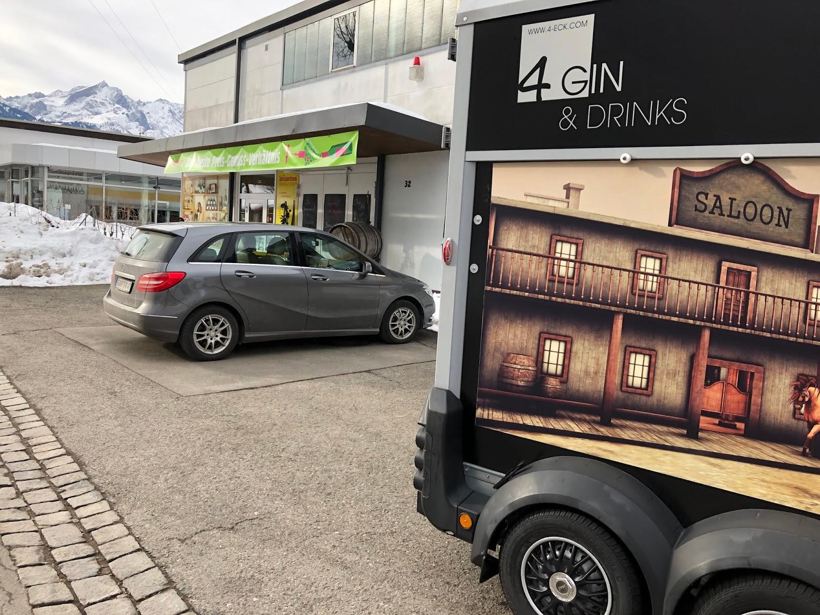Partner Weinhaus Kraus, 4 Gin and Drinks, Horseboxbar, Event-Bar, mobile Bar, Bayern, Garmisch-Partenkirchen, Gin-Bar, Oberammergau, König-Ludwig-Lauf