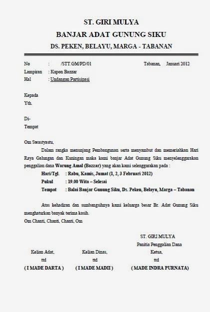 Contoh Surat Resmi Gotong Royong Contoh Sense