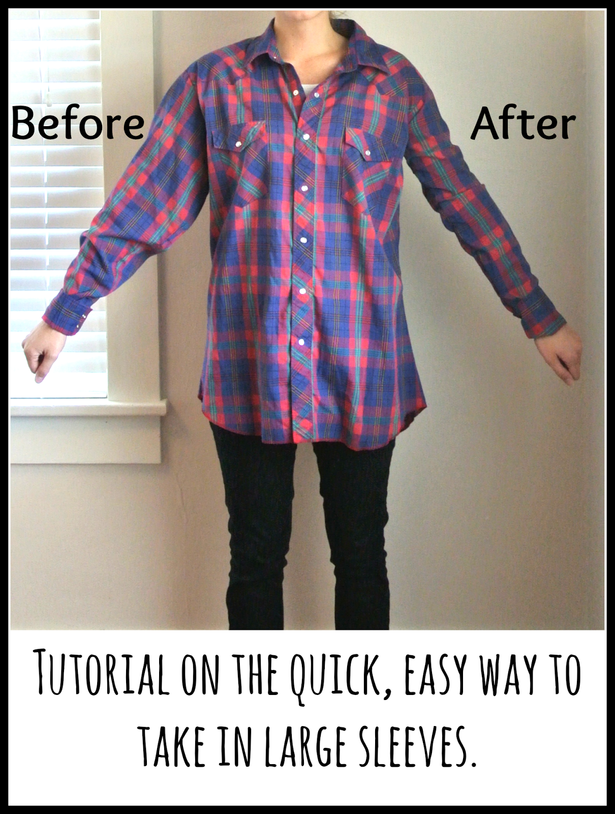 Tutorial on how to take in sleeves quickly and easily