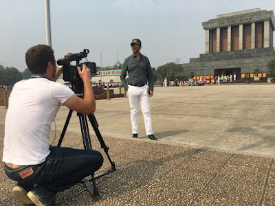 Ho Chi Minh Mausoleum was filmed by Al Arrabya News Channel