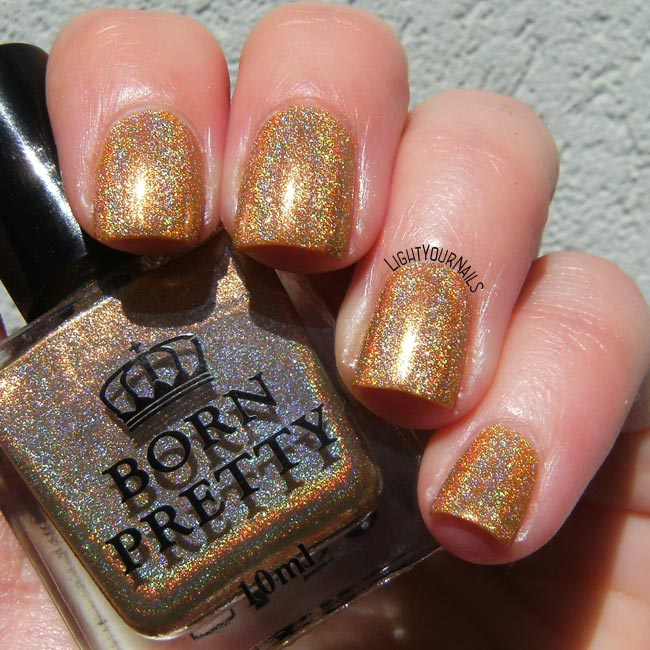 Bornpretty Heart of Gold holographic nail polish smalto