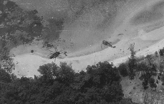 Crashed helipcopters on koh Tang Island