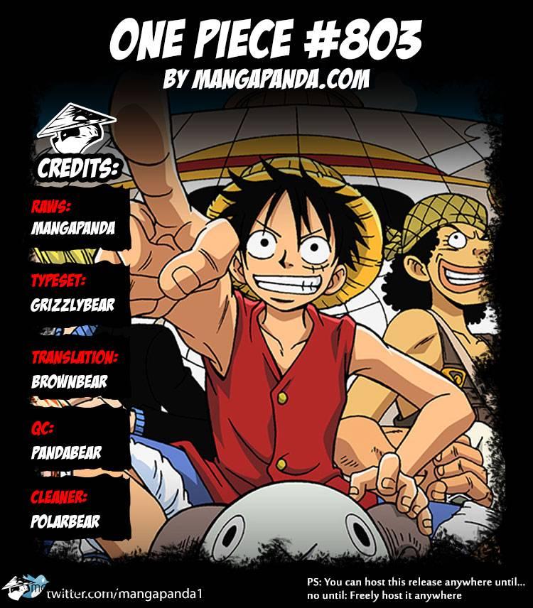 One Piece Ch 803: Climbing the Elephant
