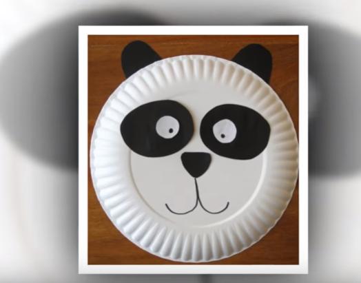 paper plate crafts panda