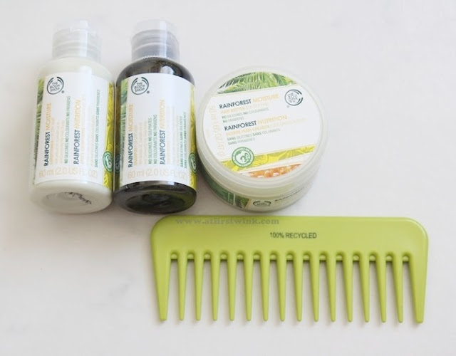 the bodyshop rainforest moisture hair set