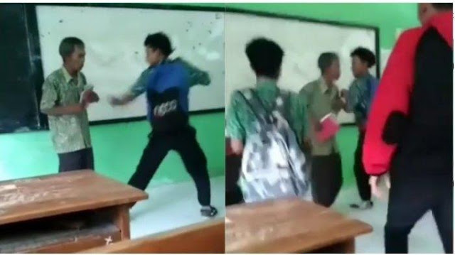 Video Viral! Seorang Murid SMK NU 3 Kaliwungu Tendang Guru