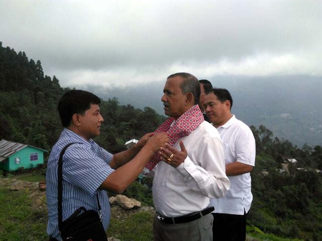 Tourism minister gautam deb in Cymbidium orchid park mungpoo