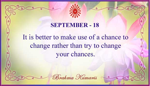 Thought For The Day September 18