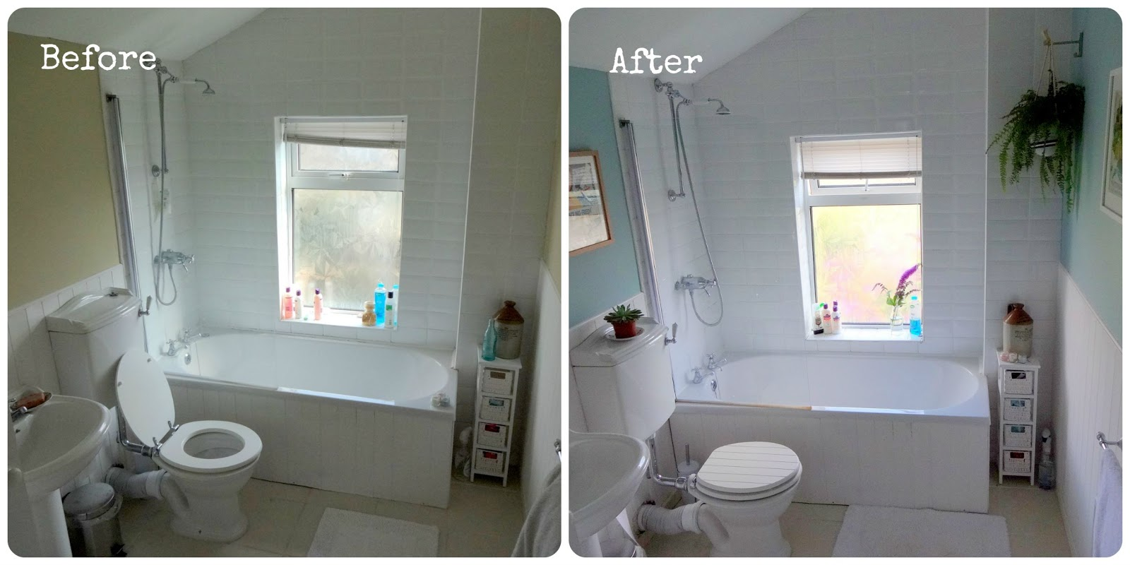 Bathroom makeover - Before & After | make do and mend