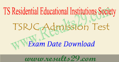 Exam date for TSRJC 2019-2020 @tsrjdc.cgg.gov.in