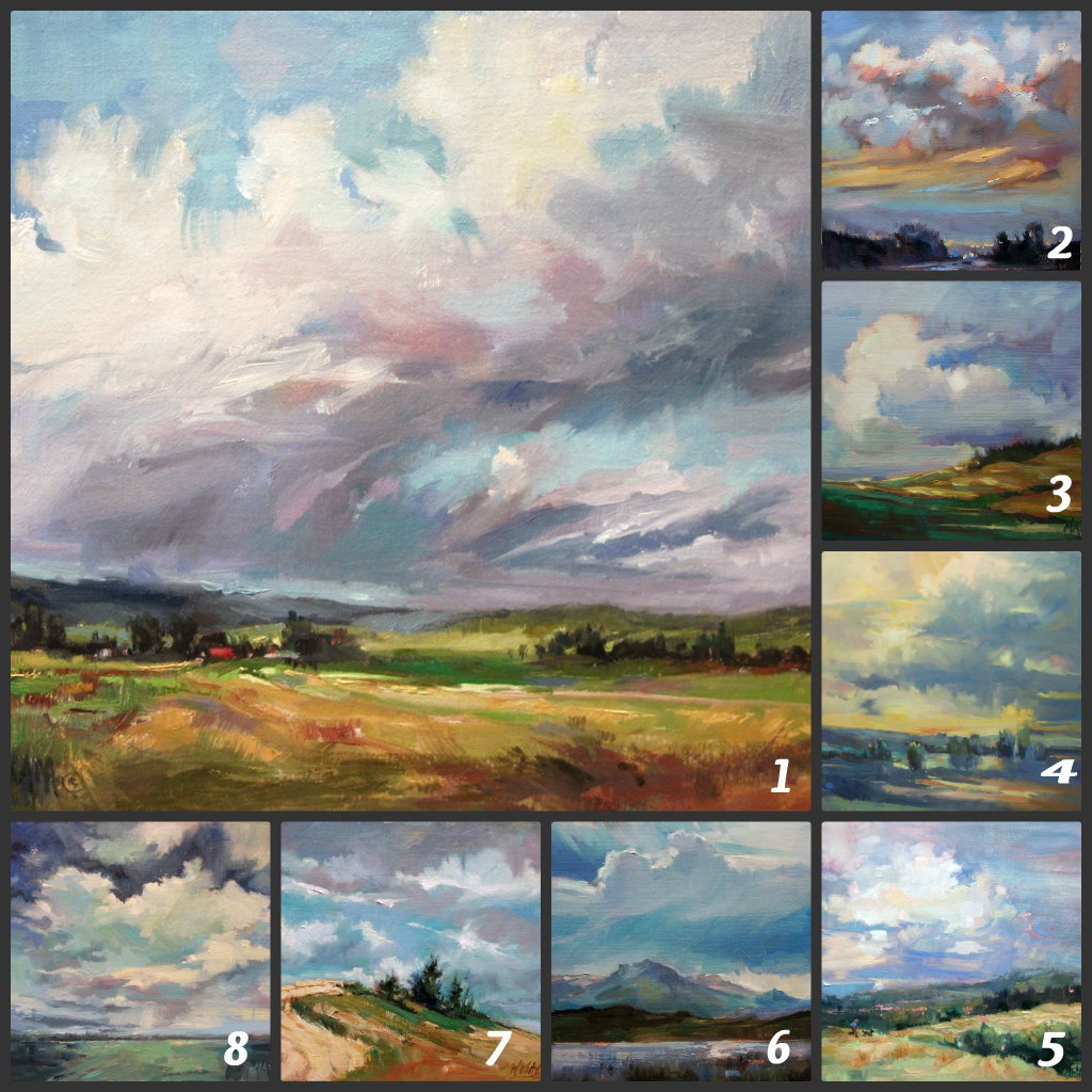 Paintings: Clouds Collage