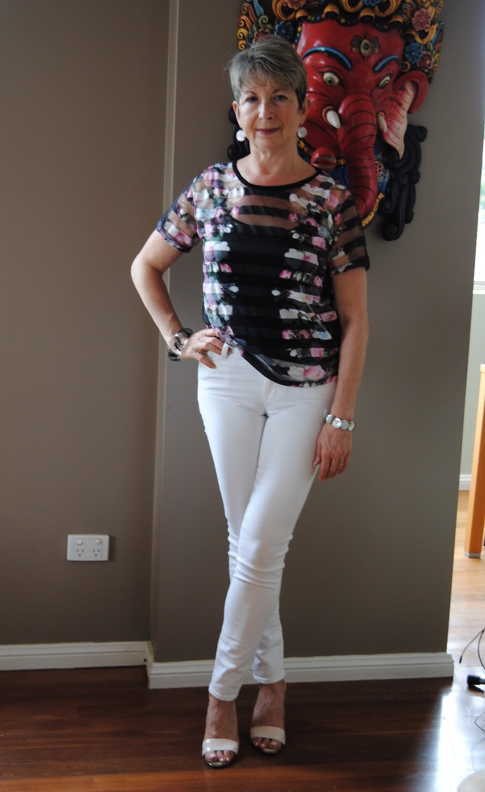 Looking Fabulous @ Fifty: HOW I STYLED WHITE SKINNY JEANS