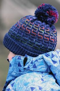 Rainbow Maze Hat