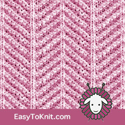 #KnitPurl Herringbone stitch. FREE Knitting Pattern. EASY TO KNIT #easytoknit #knitting