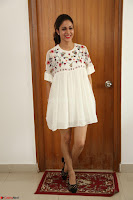 Lavanya Tripathi in Summer Style Spicy Short White Dress at her Interview  Exclusive 002.JPG