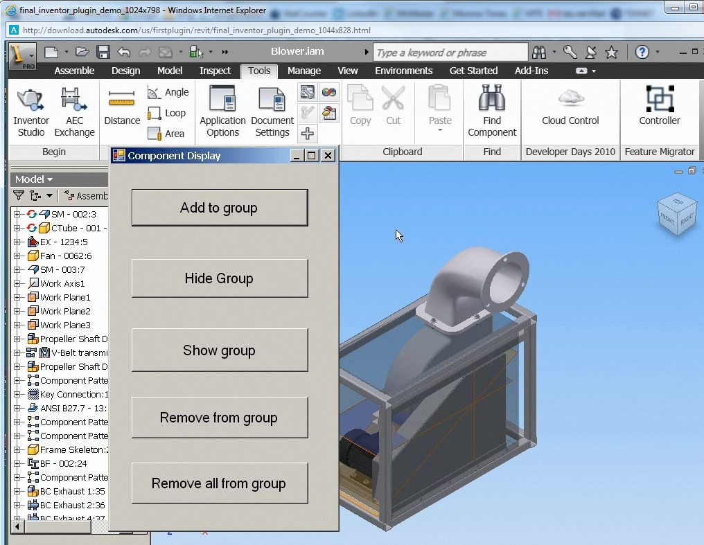 Inventor Topix: My First Inventor Plug-In Training