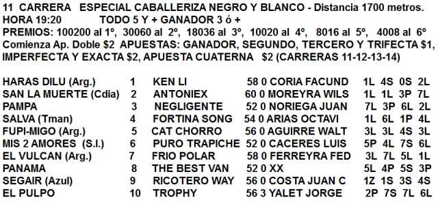 Especial Caballeriza Negro y Blanco La Plata