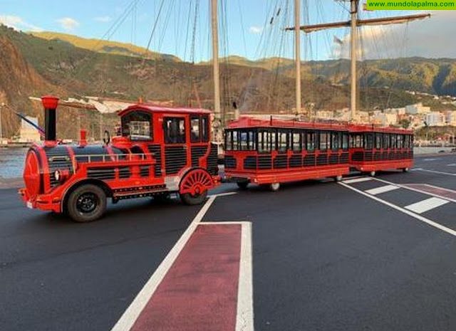 El trenecito turístico de TILP conectará el centro de  Breña Alta facilitando y dinamizando el comercio de La Villa
