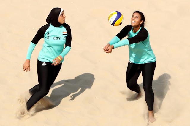 jugadoras egípcias Nada Meawad e Doaa Elghobashy