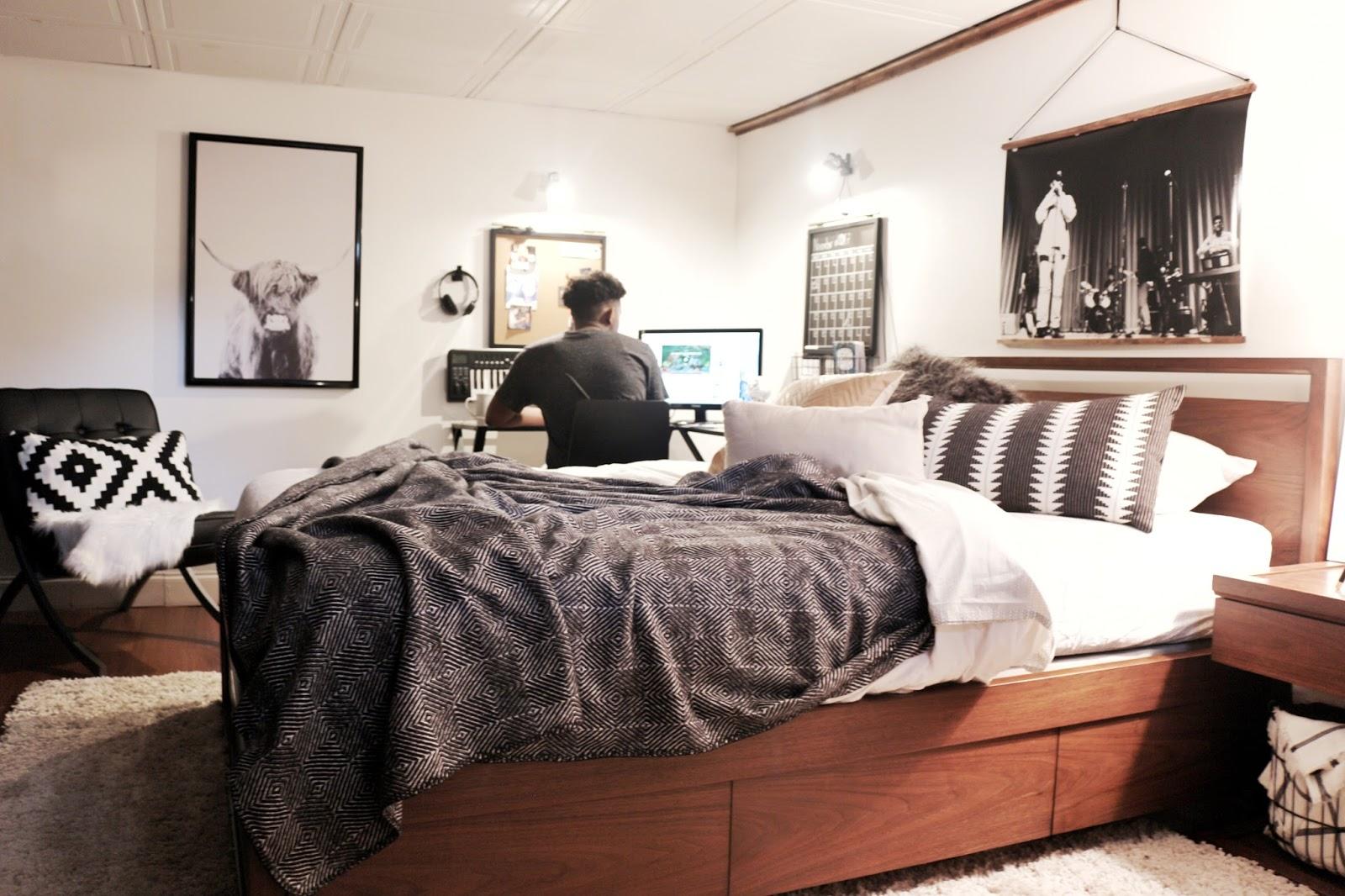 Made by Carli: Teen Boy's Basement Bedroom Reveal on Teenager Basement Bedroom  id=76448