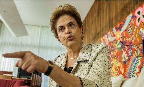 탄핵 위기의 브라질 호세프 대통령