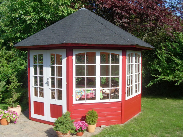 Gartenlaube Gartenhütte Gartenhäuschen Gartenpavillion