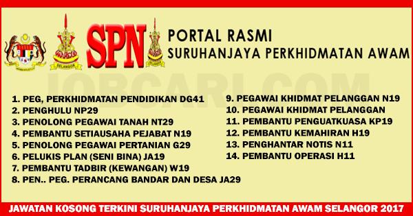 Jawatan Kosong Terkini Di Suruhanjaya Perkhidmatan Awam Selangor Pelbagai Jawatan Rm1 216 00 Rm9 552 00 Jobcari Com Jawatan Kosong Terkini
