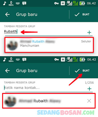 Ketik Nama Kontak/Anggota Yang Mau Ditambahkan Di Grup WhatsApp