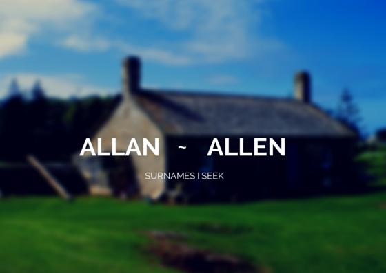 Allen Allan Surname