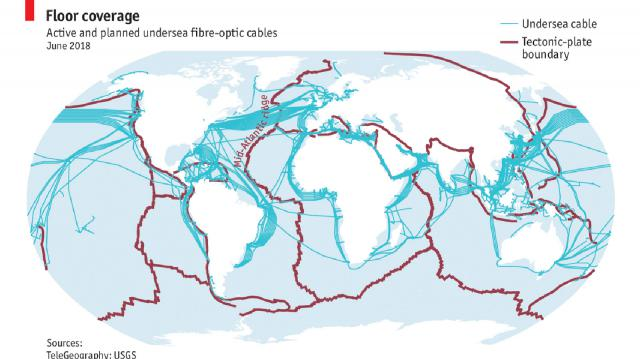 submarine cables map