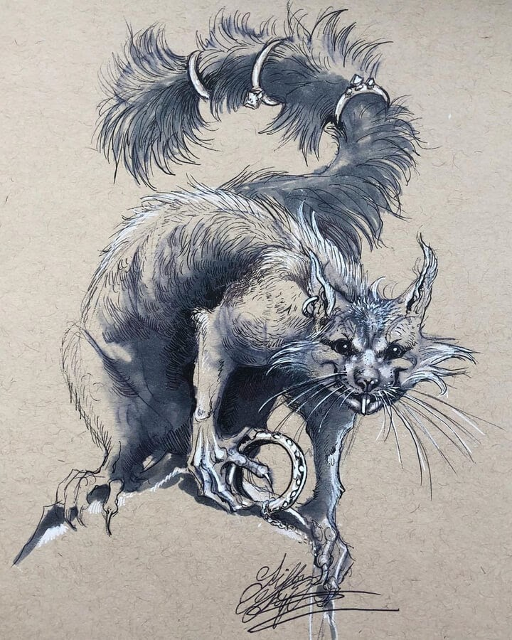 10-Cat-Like-Creature-Gillian-Griffiths-www-designstack-co